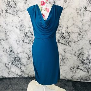 Ronni Nicole S/M blue stretchy dress